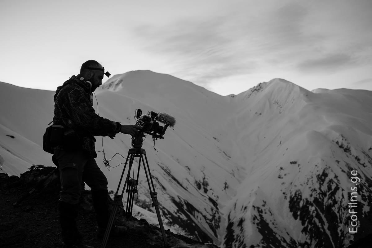 Filming in Tusheti